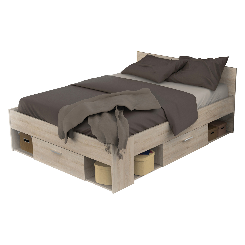 Multifunkční postel 140 x 190/200 CHICAGO dub
