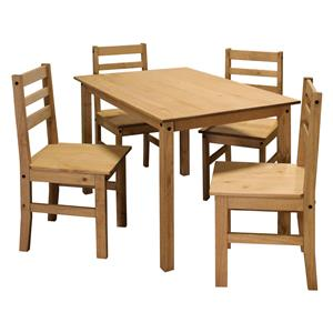 Stůl + 4 židle CORONA vosk