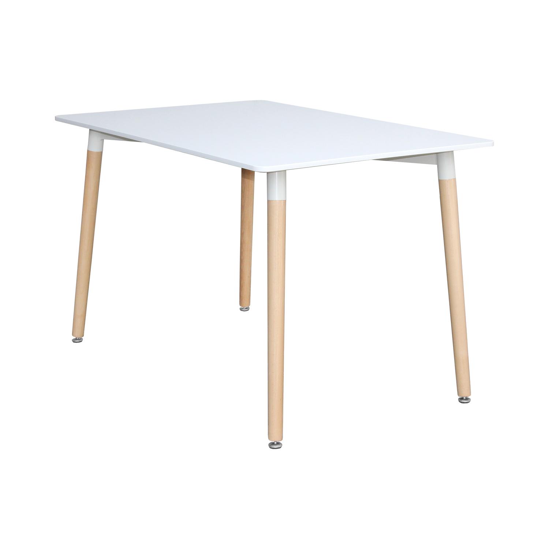 Jedálenský stôl 120x80 UNO biely
