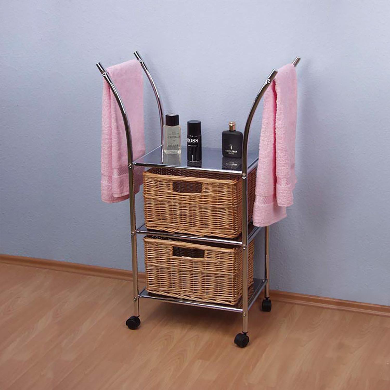 Stojan na ručníky pojízdný kovový
