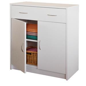 Prádelník s dvířky 4123 bílá