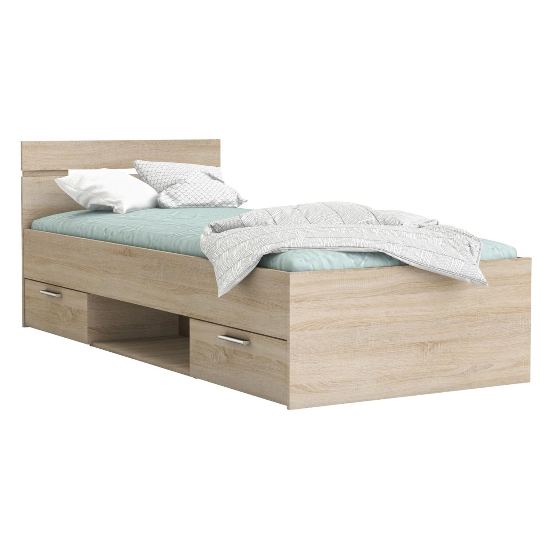 f1db587cfb3e Multifunkční postel 90x200 MICHIGAN dub