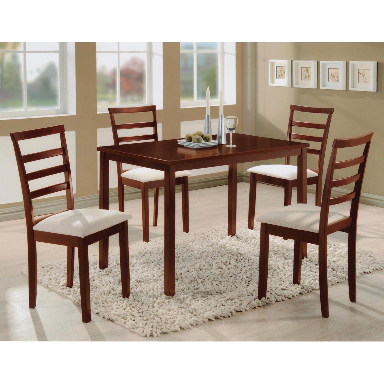 Levně Stůl + 4 židle LIVORNO lak třešeň