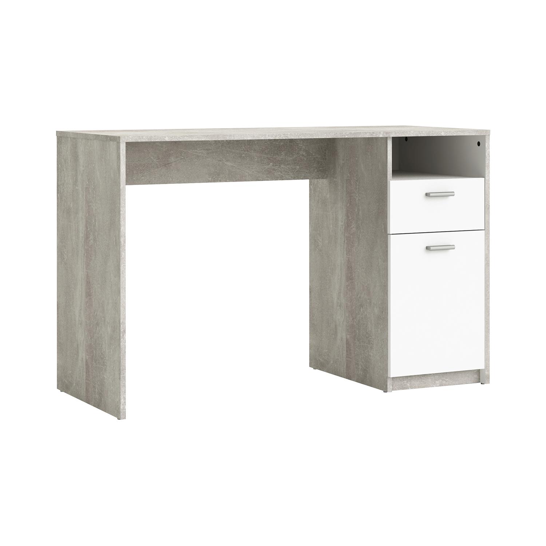 Psací stůl HOUSTON bílá/beton