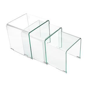 Sada 3 stolků sklo