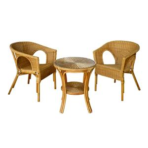 Sestava MANILA stůl + 2 křesla ratan