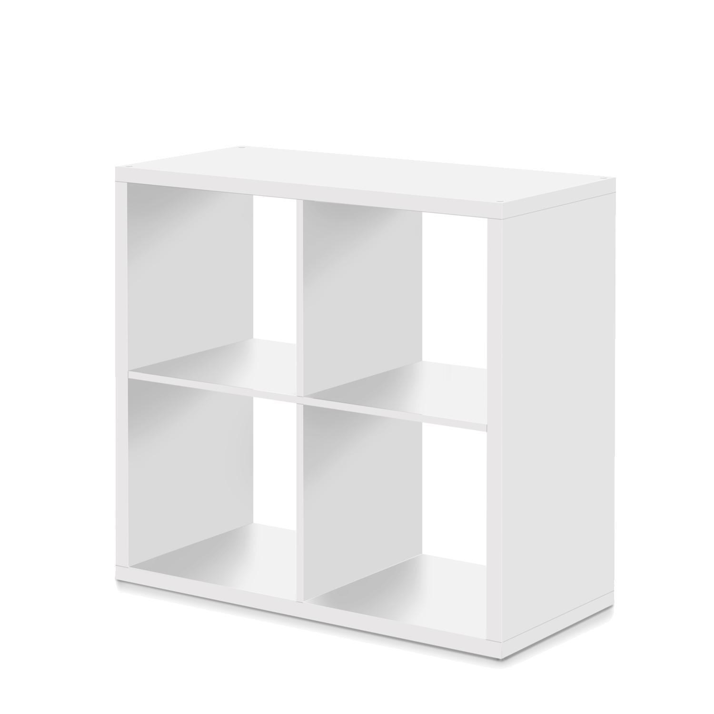 Knižnica MAX 4 kocka biela
