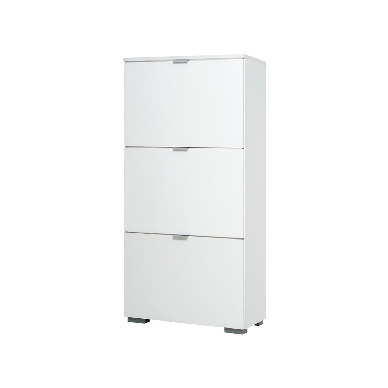 Botník GRAZ 3 výklopy bílá/lesklá bílá