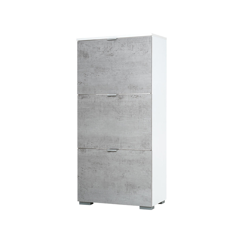 Botník GRAZ 3 výklopy bílá/světlý beton