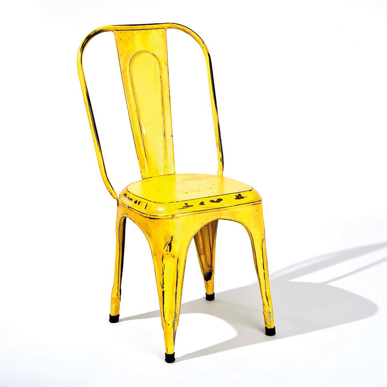 Židle AIX retro žlutá