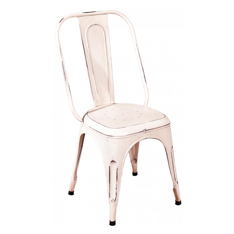 Židle AIX retro bílá