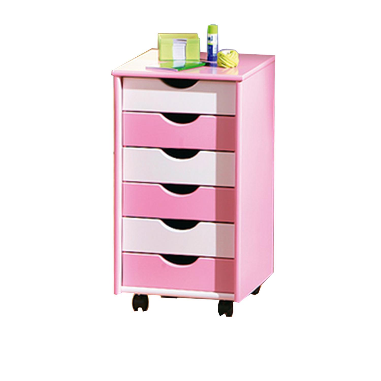 Pierre - kontejner růžovo/bílý
