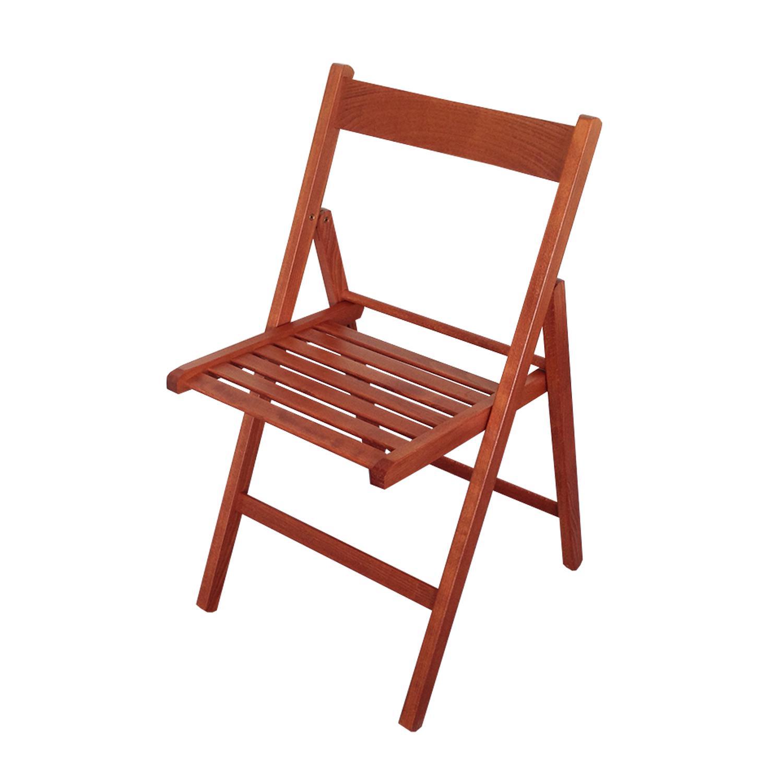 Skládací židle lak třešeň