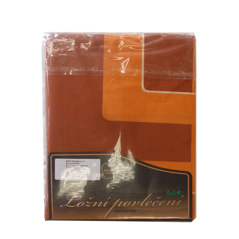 Povlečení bavlna oranžové cihlová