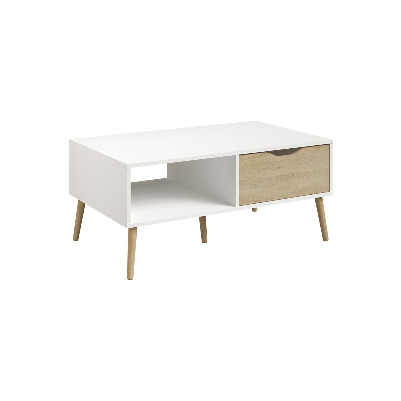Konferenčný stolík NORSK dub/biela