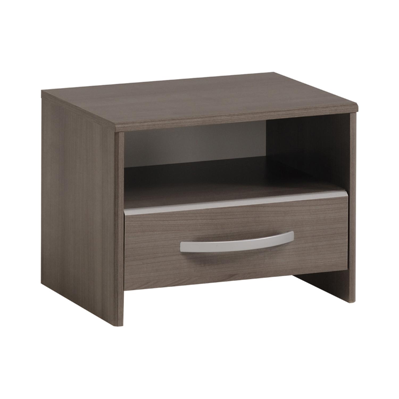Noční stolek EVA stříbrný ořech