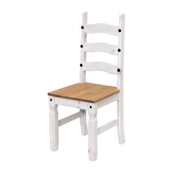 Židle CORONA bílý vosk