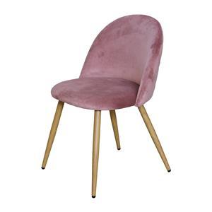 Jídelní židle LAMBDA růžový samet