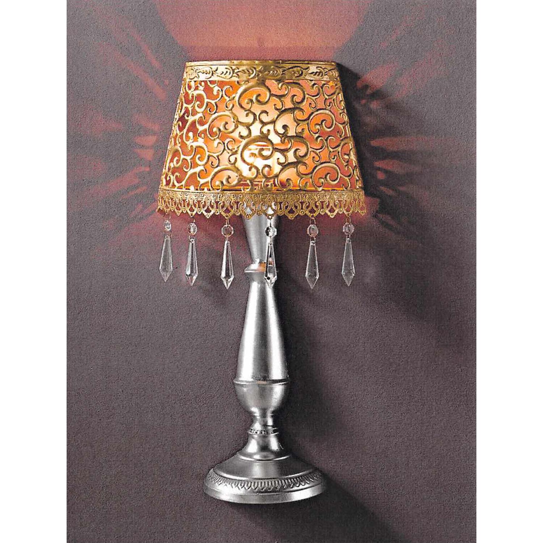 Levně Nástěnná dekorativní kovová lampa zlatá/stříbrná