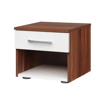 Noční stolek 60140 ořech/bílá