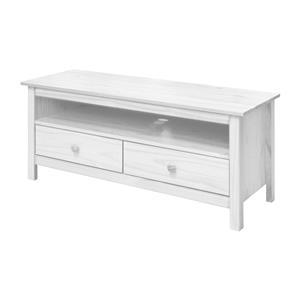 TV stolek 2 zásuvky TORINO bílý