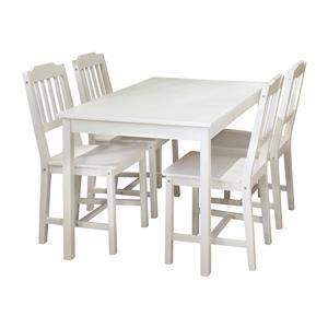 Stůl + 4 židle 8849 bílý lak