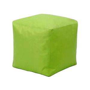 Sedací taburet CUBE světle zelený s náplní