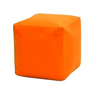 Sedací taburet CUBE oranžový s náplní